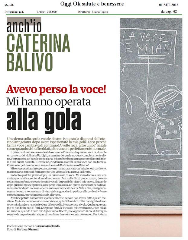 Oggi Ok Salute E Benessere Caterina S Secrets Il Blog Ufficiale Di Caterina Balivo
